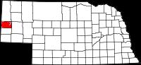 Nebraska map highlighting Kimball County