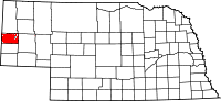 Nebraska map highlighting Scotts Bluff County